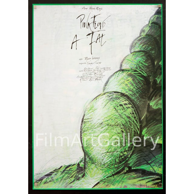 """1989 Hungarian Pink Floyd """"The Wall"""" Film Poster - Image 1 of 3"""