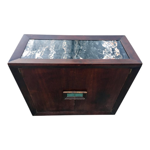 50's Marble Top Bar Cabinet - Image 1 of 11