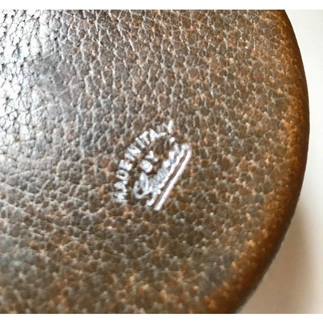 Metal 1980s Vintage Gucci Spherical Leather Lighter For Sale - Image 7 of 8