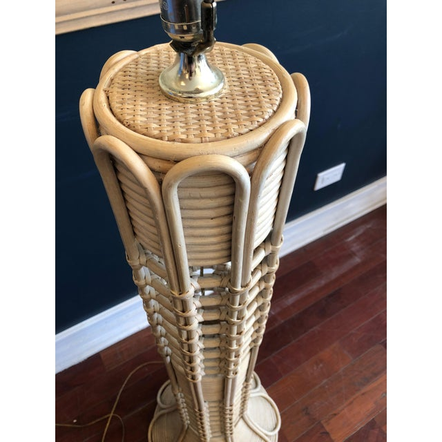 Southbeach Style Rattan Floor Lamp For Sale - Image 4 of 11