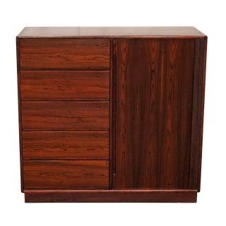 Original Danish Gentleman's Chest Dresser - Ic Interform Collection For Sale