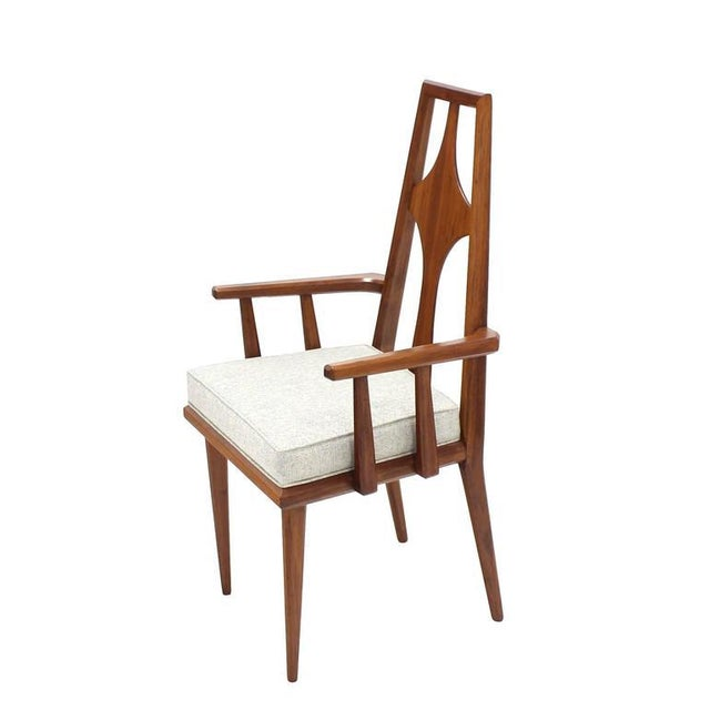 Set of Six Swedish Dining Chairs New Upholstery For Sale - Image 4 of 10