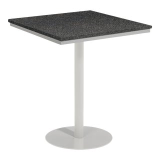 "38"" Square Outdoor Bar Table, Charcoal For Sale"
