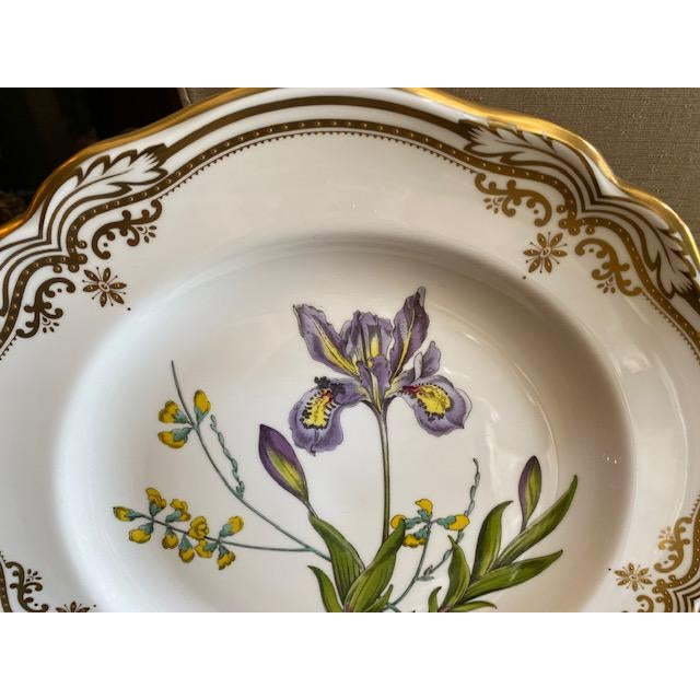 Spode English Dinner Stafford Flowers Bone Plates - 14 Pieces For Sale In Los Angeles - Image 6 of 9