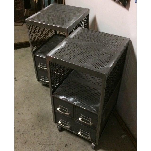 Repurposed Metal Industrial Tables - Pair - Image 3 of 7