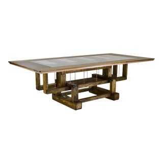 Industrial Custom Dining Table For Sale