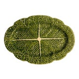 Image of Oval Cabbage Bordallo Pinherio Platter For Sale