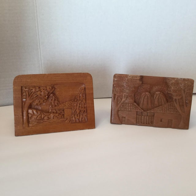 Hand Carved Wood Carvings - A Pair For Sale - Image 11 of 11