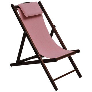 Folding and Adjustable Sling-Back Lounge Chair, 1940s British Campaign