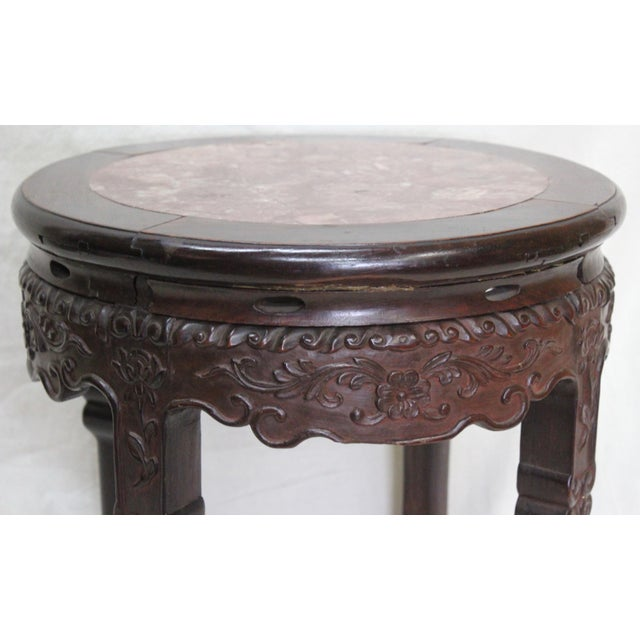Late 19th Century Antique Indian Rosewood Tabouret For Sale - Image 5 of 10
