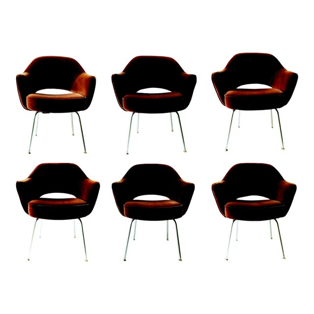 6 Eero Saarinen Executive Chairs for Knoll - From Ibm Offices For Sale