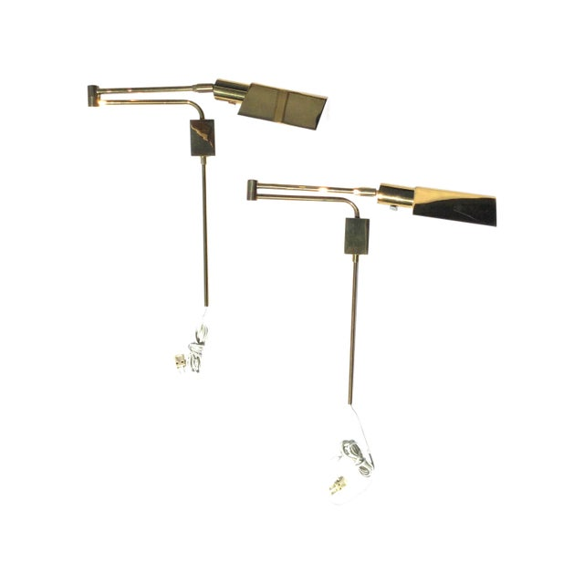 Brass Vintage Brass Wall Sconces - a Pair For Sale - Image 8 of 8