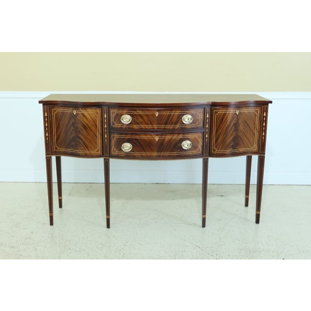 Stickley Federal Style Inlaid Mahogany Sideboard For Sale - Image 13 of 13