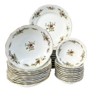 """Vintage Johann Haviland """"Moss Rose"""" Porcelain Dinnerware"""