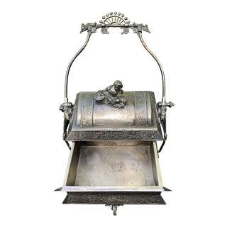 Antique Mechanical Sugar Casket or Trinket Box For Sale