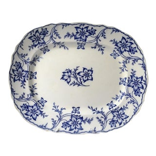 19th Century Chinoiserie Ironstone Transferware Platter For Sale