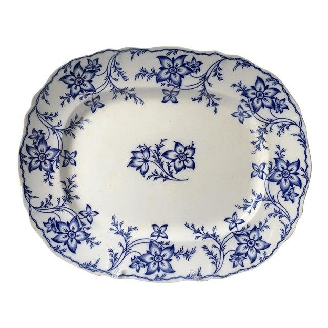 19th Century Chinoiserie Ironstone Transferware Platter For Sale
