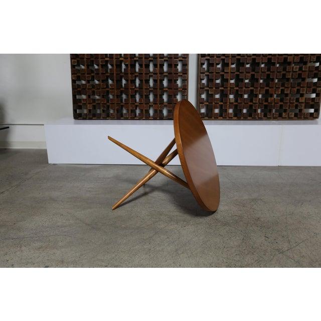 Mid-Century Modern t.h. Robsjohn-Gibbings for Widdicomb Walnut Side Table For Sale In Los Angeles - Image 6 of 8