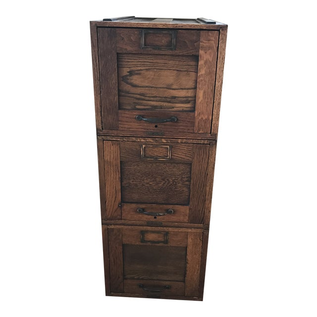 Early 20th Century Amberg File & Index Co. Stacking File Cabinet For Sale