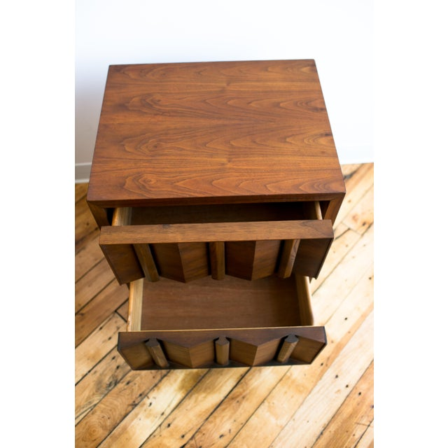 Paul Evans Style Mid-Century Brutalist Pedestal Night Stands- A Pair - Image 3 of 9