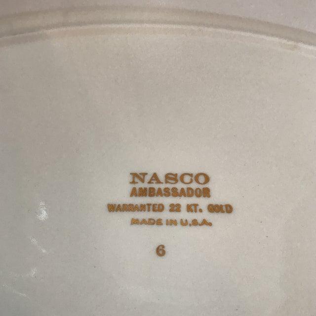 """Nasco 22K Gold """"Ambassador"""" Platter For Sale - Image 4 of 10"""
