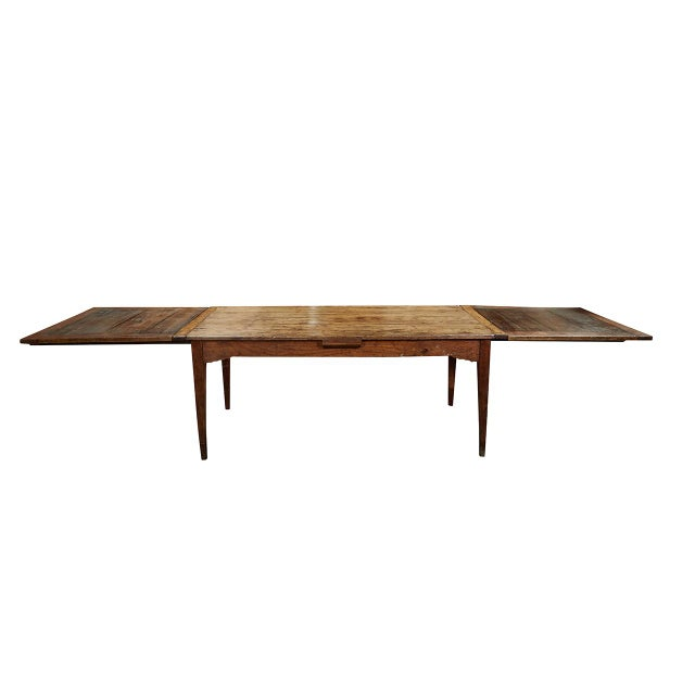 French Country Dining Table With Pull Out Leaves For Sale - Image 11 of 12