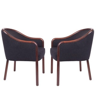 1960s Mid-Century Modern Ward Bennett Bentwood Club Chairs - a Pair For Sale