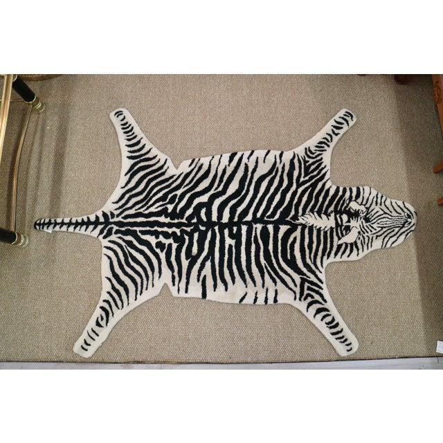 Wool Zebra Rug - 3′11″ × 6′ - Image 5 of 5