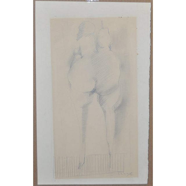 Jan Stussy (1921–1990) Original Nude Study C.1950 For Sale - Image 4 of 5