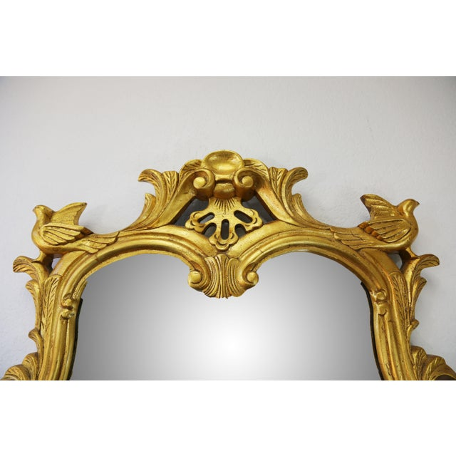 Vintage Gold Gilt Wood Mirror For Sale In Tampa - Image 6 of 9
