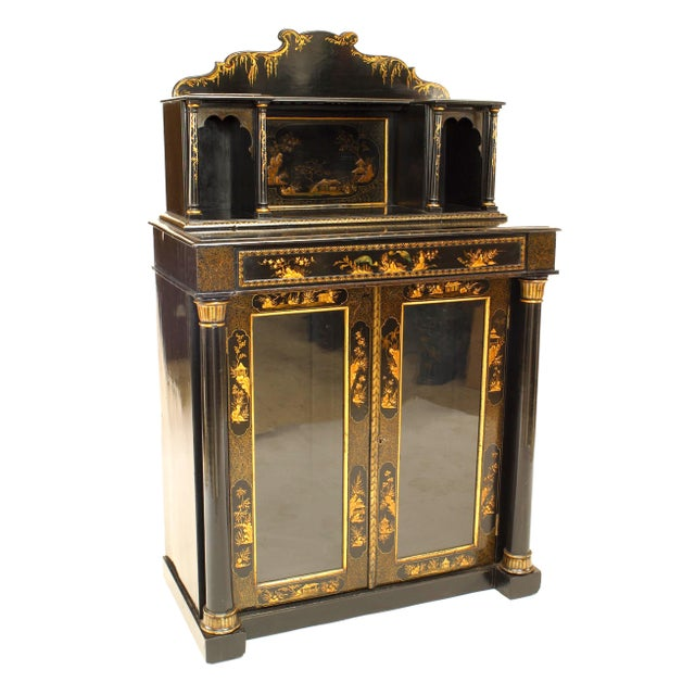 19th Century Regency Lacquered Chinoiserie Sideboard For Sale - Image 5 of 8