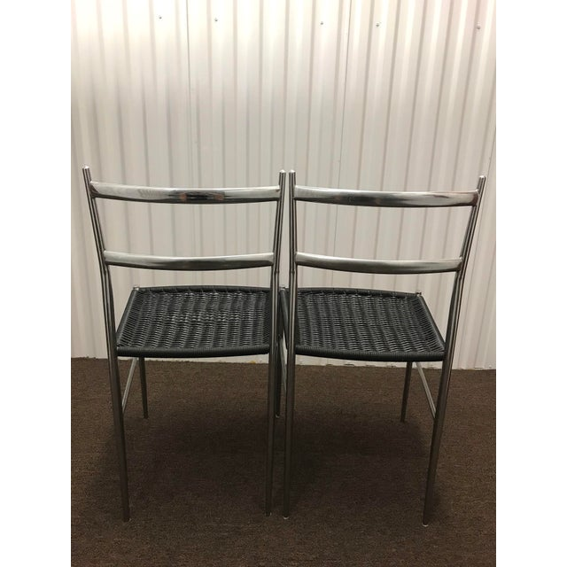 "Gio Ponti 1960s Gio Ponti Style ""Superleggera"" Chairs - a Pair For Sale - Image 4 of 7"
