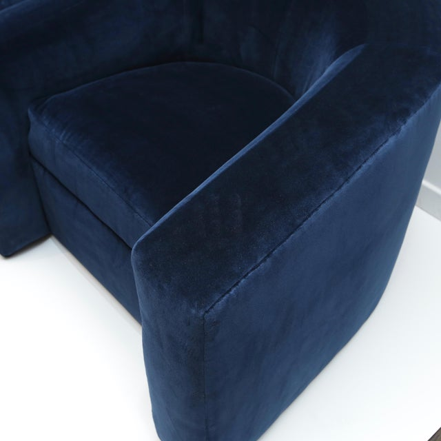 Pair of Velvet Tub Chairs For Sale In New York - Image 6 of 11