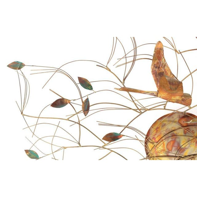 Mid-Century Modern Large Metal Wall Sculpture For Sale - Image 3 of 8
