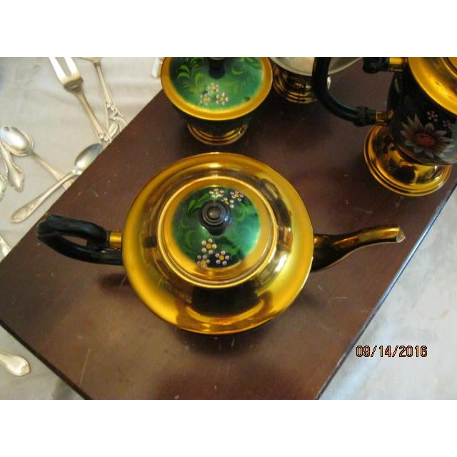 New Hand Painted Russian Vintage Tea and Coffee Set ~ Circa 1960's to 1970's - Image 3 of 11