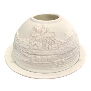 Bernardaud for Van Cleef and Arpels Paris Cityscape Limoges Porcelain Lithophane Votive Holder For Sale