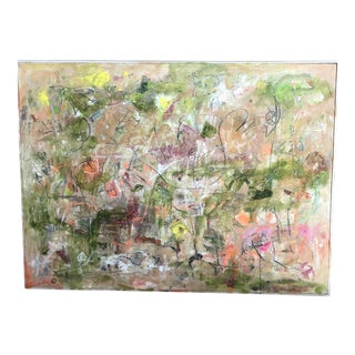 """Large Abstract Expressionist Landscape """"My Mother's Garden"""" by Ellen Reinkraut For Sale"""