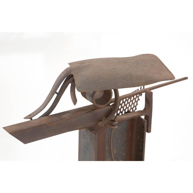 Patinated Steel and Iron Sculpture by Rick Lussier For Sale - Image 4 of 5