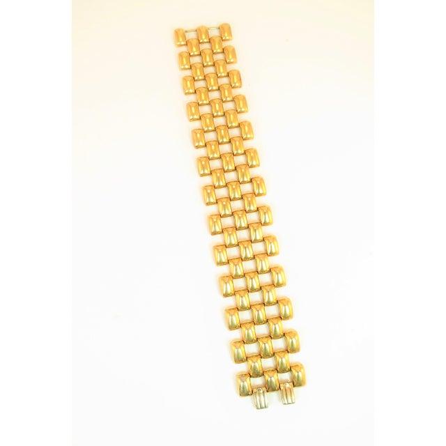 Mid-Century Modern Mid-Century Kreisler Geometric Open-Link Vermeil Bracelet 1940s For Sale - Image 3 of 13