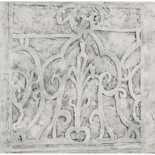 """""""French Window"""" Contemporary Renaissance Pattern Bas Relief Oil Painting by Martha Holden For Sale"""