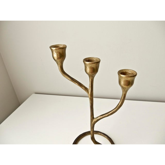 Modern Solid Brass Candlestick - Image 4 of 6
