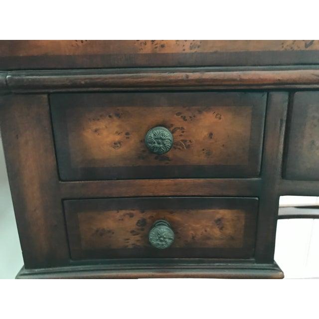 Burled Wood Lift Top Secretary Desk - Image 5 of 10