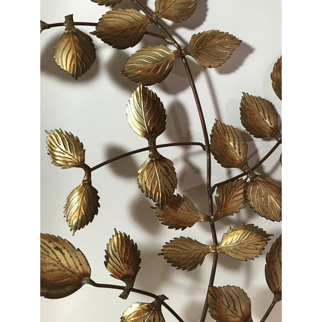 Metal Mid-Century Metal Leaf Wall Art - A Pair For Sale - Image 7 of 9