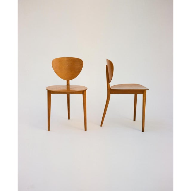 Bauhaus Max Bill Tripod Chairs, 1949 For Sale - Image 3 of 6