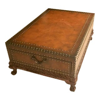 Ralph Lauren Dalton Leather Nailhead Cocktail Table