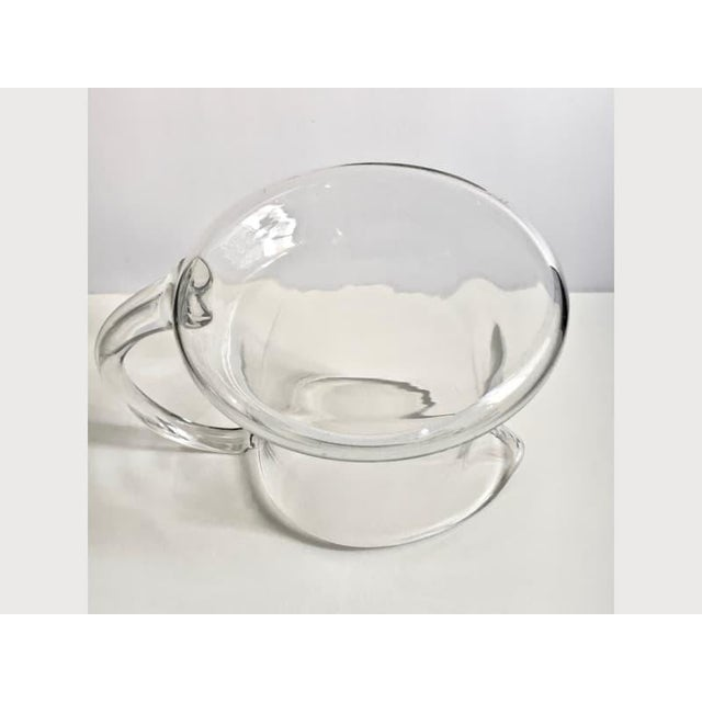 Mid 20th Century Scandinavian Modern Hand Blown Clear Glass Pitcher For Sale - Image 5 of 7