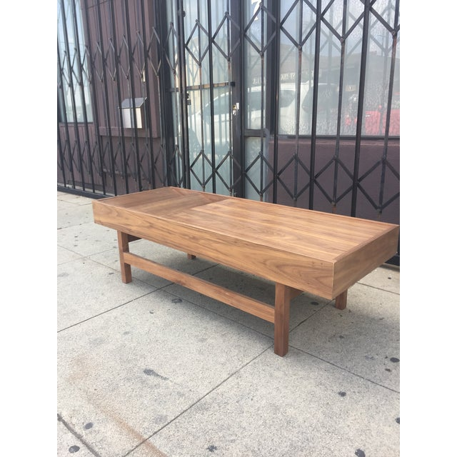 """Mid-Century Modern Custom Handcrafted """"Rosa"""" Coffee Table For Sale - Image 3 of 13"""