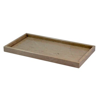 Tan Marble Amenity Tray For Sale