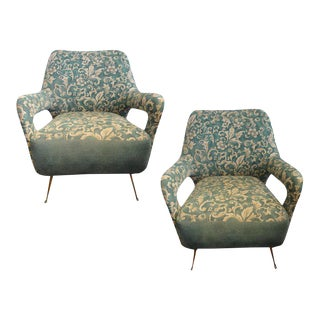 1960's Italian Gio Ponti Style Lounge Chairs-A Pair For Sale