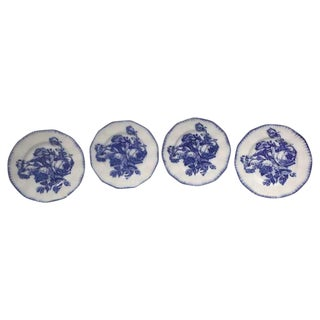 Flow Blue Ironstone Plates For Sale